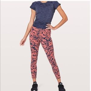 Lululemon Final lap Crop Floral leggings, size 8